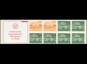 Surinam Markenheftchen 4 Luftpostmarken 40 und 20 Ct., Bereikt ... 1978