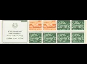 Surinam Markenheftchen 4 Luftpostmarken 40 und 20 Ct., Wees ... 1978