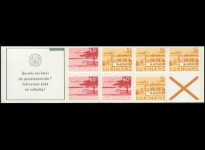 Surinam Markenheftchen 5 Luftpostmarken 5 und 60 Ct., Bereikt ... 1978