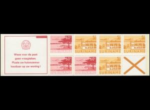 Surinam Markenheftchen 5 Luftpostmarken 5 und 60 Ct., Wees ... 1978