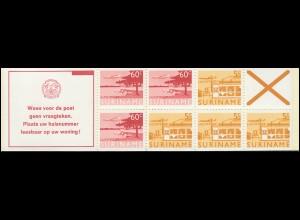 Surinam Markenheftchen 6 Luftpostmarken 60 und 5 Ct., Wees ... 1978