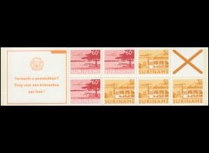 Surinam Markenheftchen 6 Luftpostmarken 60 und 5 Ct., Verwacht ... 1978