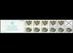 Surinam Markenheftchen 8 Obst Fruit 25 und 15 Ct., PB 5c Doe uw ... 1979