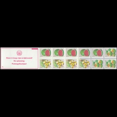 Surinam Markenheftchen 10 Obst Fruit 35,10,5 Ct., PB 6b Staan ... 1980