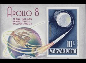 Block 68B Mondumkreisung durch APPOLO 8, Block ungezähnt **