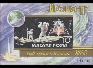 Block 72B APOLLO 11 - Erste bemannte Mondlandung 1969, Block ungezähnt **