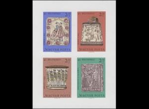 Block 73B Tag der Briefmarke - Holzschnitzerarbeiten 1969, Block ungezähnt **
