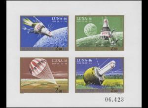 2642-2645B Kleinbogen Weltraumflug LUNA 16, Kleinbogen ungezähnt **