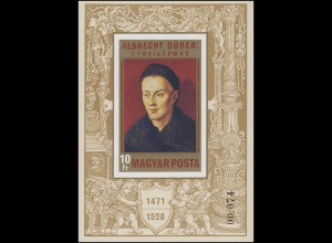 Block 81B Geburtstag Albrecht Dürer 1471-1971, Block ungezähnt **
