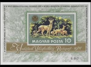 Block 82B Welt-Jagdausstellung Budapest - Rehfamilie 1971, Block ungezähnt **