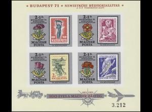 Block 83B Briefmarkenausstellung BUDAPEST 1971, Block ungezähnt **