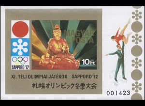 Block 86B Olympia Winterspiele Sapporo 1972, Block ungezähnt **