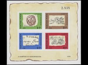 Block 88B Tag der Briefmarke - Stempel 1972, Block ungezähnt **