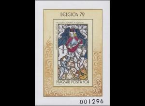 Block 90B Briefmarkenausstellung BELGICA 1972, Block ungezähnt **