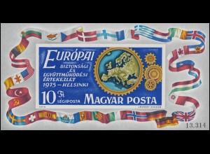Block 113B KSZE-Konferenz Helsinki 1975, Block ungezähnt **