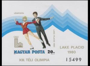 Block 140B Olympia Winterspiele Lake Placid - Eistanz 1979, Block ungezähnt **