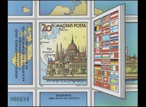 Block 163B KSZE-Konferenz Budapest 1983, Block ungezähnt **