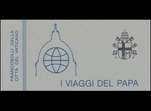 Vatikan-Markenheftchen 2 Die Weltreisen von Papst Johannes Paul II 1984, **