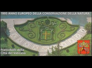 Vatikan-Markenheftchen 0-5 Europäisches Naturschutzjahr 1995, **