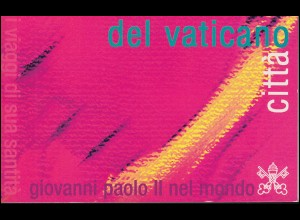 Vatikan-Markenheftchen 10 Weltreisen Papst Johannes Paul II. 2002, **
