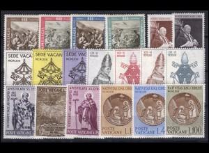 423-441 Vatikan-Jahrgang 1963 komplett, postfrisch