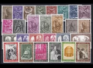 490-516 Vatikan-Jahrgang 1966 komplett, postfrisch