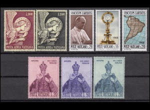 536-543 Vatikan-Jahrgang 1968 komplett, postfrisch