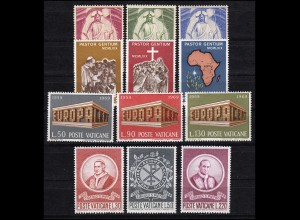 544-555 Vatikan-Jahrgang 1969 komplett, postfrisch