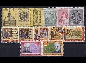 596-614 Vatikan-Jahrgang 1972 komplett, postfrisch