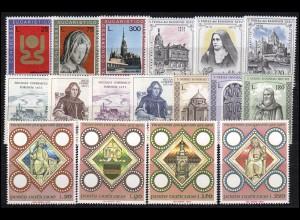 615-631 Vatikan-Jahrgang 1973 komplett, postfrisch