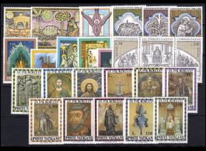 632-656 Vatikan-Jahrgang 1974 komplett, postfrisch