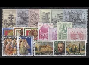 657-674 Vatikan-Jahrgang 1975 komplett, postfrisch