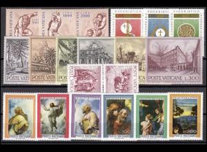 675-694 Vatikan-Jahrgang 1976 komplett, postfrisch