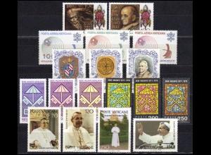 718-735 Vatikan-Jahrgang 1978 komplett, postfrisch