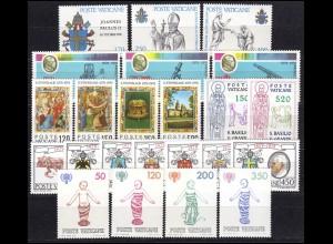 736-758 Vatikan-Jahrgang 1979 komplett, postfrisch