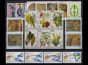 1051-1078 Vatikan-Jahrgang 1992 komplett, postfrisch