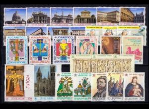 1079-1106 Vatikan-Jahrgang 1993 komplett, postfrisch