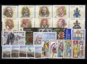 1269-1322 Vatikan-Jahrgang 1999 komplett, postfrisch