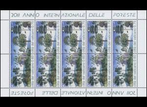 1710-1711 EUROPA - Der Wald, Zusammendruck-Kleinbogen **