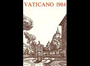 Vatikan - amtliches Jahrbuch der Post von 1984, **