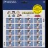USA - Folienblatt mit 20 Briefmarken Peanuts / Snoopy, postfrisch **