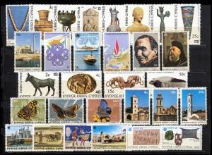 578-607 Zypern (griechisch) Jahrgang 1983 komplett, postfrisch