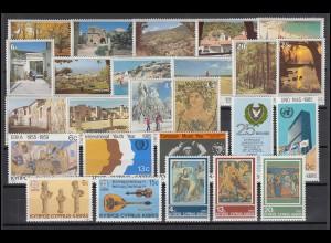 626-650 Zypern (griechisch) Jahrgang 1985 komplett, postfrisch