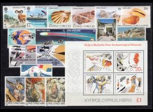 651-671 Zypern (griechisch) Jahrgang 1986 komplett, postfrisch