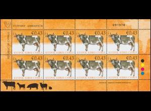 Zypern (griechisch) 1177 Haustiere - Säugetiere. Die Kuh, Kleinbogen **