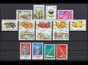 25-40 Zypern (türkisch) Jahrgang 1976 komplett, postfrisch
