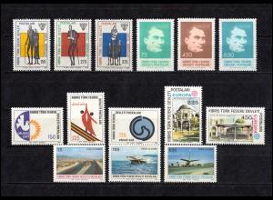 52-65 Zypern (türkisch) Jahrgang 1978 komplett, postfrisch