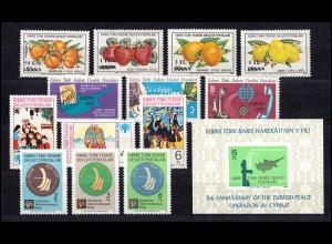 66-79 Zypern (türkisch) Jahrgang 1979 komplett, postfrisch