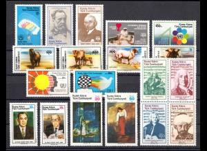 160-178 Zypern (türkisch) Jahrgang 1985 komplett, postfrisch