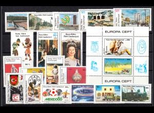 179-198 Zypern (türkisch) Jahrgang 1986 komplett, postfrisch